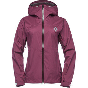 Black Diamond Stormline Stretch Regen Shell Jacke Damen plum